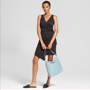 NWOT A New Day Wrap Black Dress